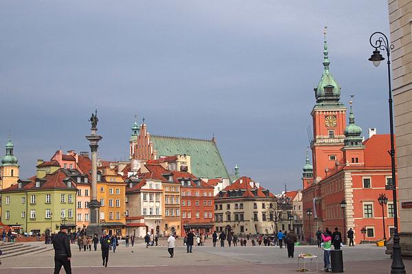 Замковая площадь, места в Польше, Варшава